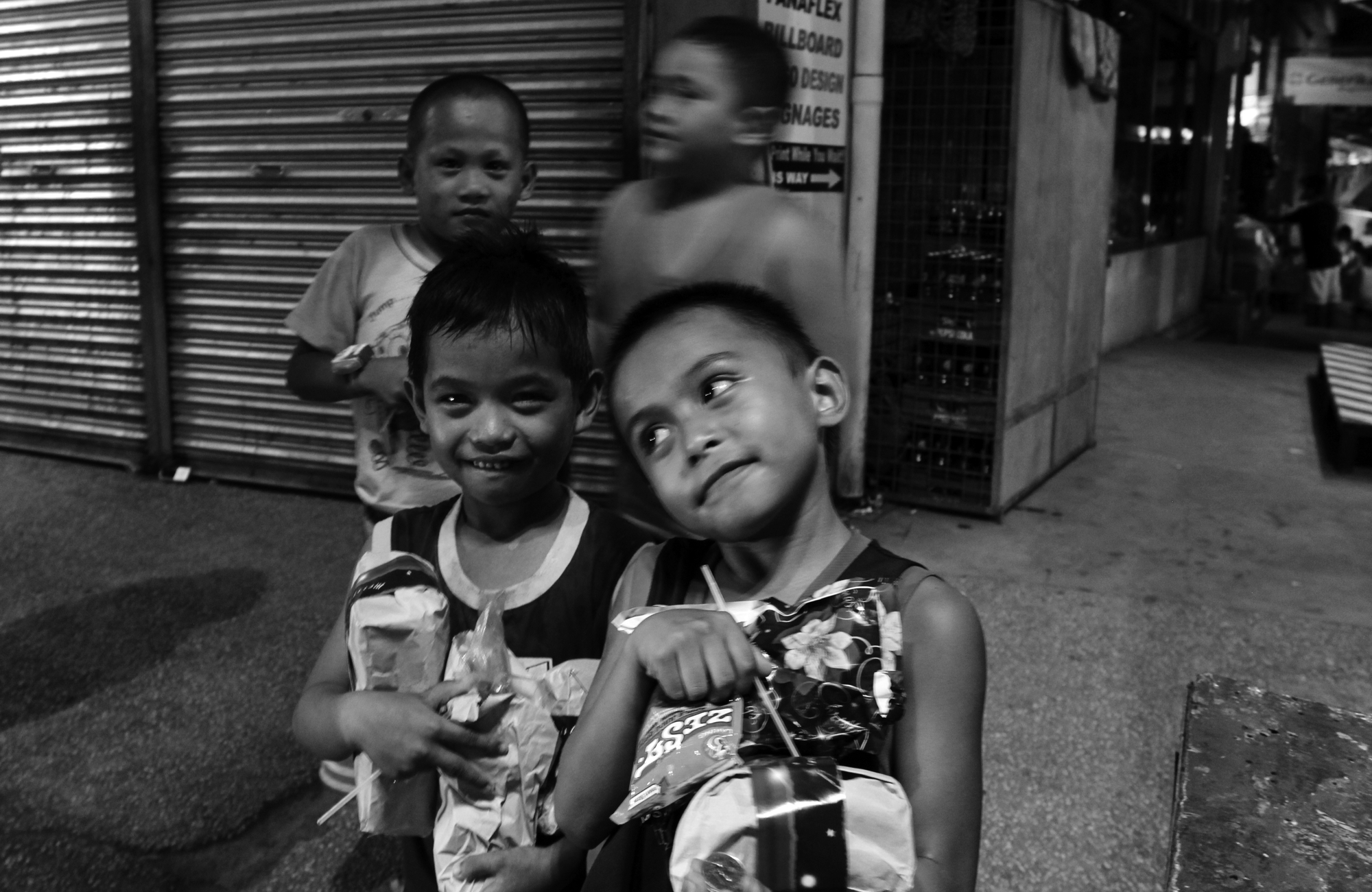 HAPPY. Kids smile as they receive the gifts from the Bike Scouts Philippines