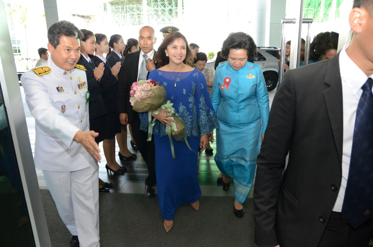 ROBREDO IN THAILAND. Vice President Leni Robredo arrives at the Jubilee Ballroom in Thailand for a press interview on August 1, 2016. Photo from the Office of the Vice President