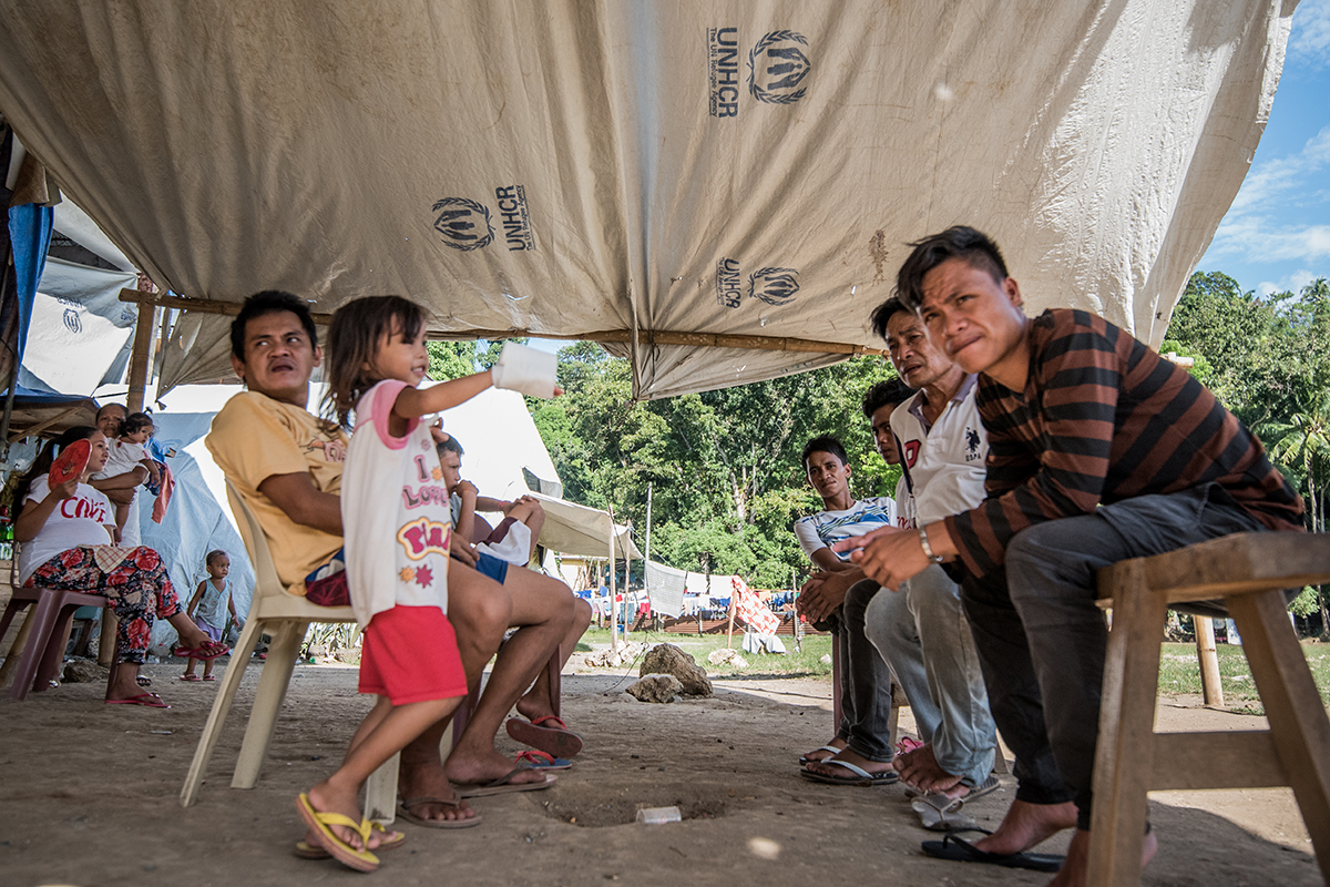 DISPLACEMENT. As of December 18, 2017, an estimated 307,905 people live in displacement across Mindanao due to conflict, violence, and natural disasters. Those who are forced to flee because of the Marawi crisis account for nearly 87% (or some 266,615 people) of the total displaced population in Mindanao. Photo by Alecs Ongcal/UNHCR