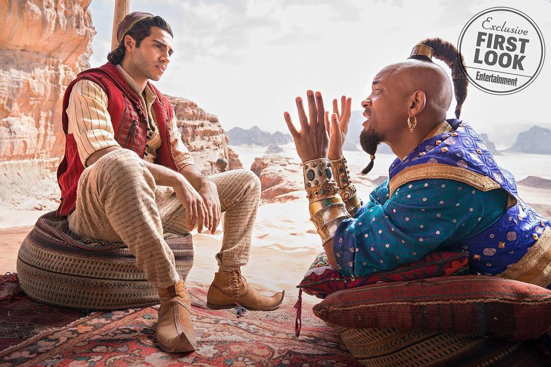 FRIEND LIKE ME. Mena Massoud plays Aladdin and Will Smith plays the Genie in the live-action remake of the Disney classic. Photo from Instagram.com/disneyaladdin