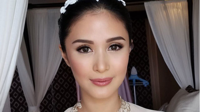 GLOWING. Heart Evangelista on her wedding day. Screengrab from Instagram/Albert Kurniawan