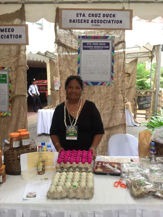 EGG-CELENT. Isabela Nepomuceno from Eastern Samar sells her fresh salted egg and balut at the Women's Market - a marketplace of homegrown and handcrafted merchandise