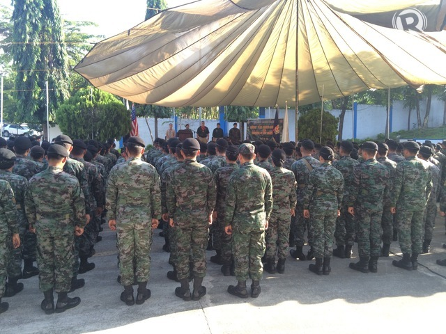 The PNP SAF during their Monday, July 20 flag ceremony inside Camp Bagong Diwa. Rappler photo