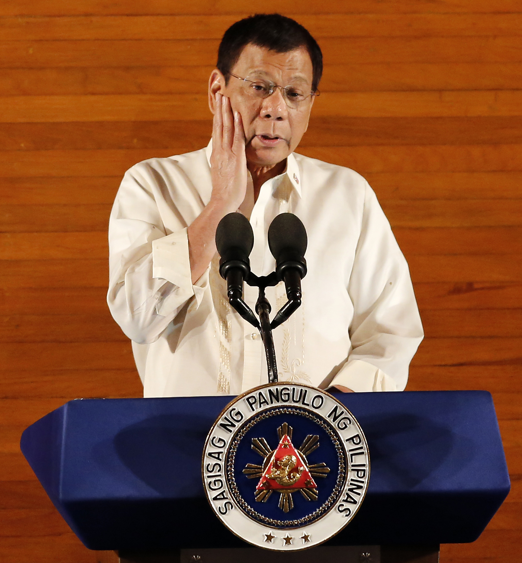SONA 2016. Filipino President Rodrigo Duterte delivers his first State of the Nation Address during the opening of the 17th Congress at the House of Representatives in Quezon City, East of Manila, Philippines July 25, 2016. Photo by Francis R. MALASIG/EPA
