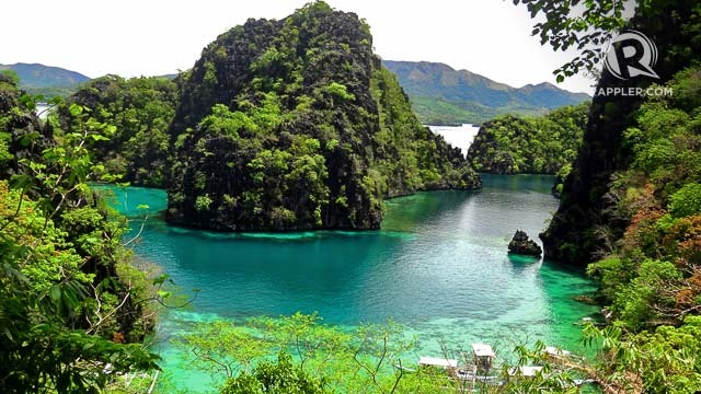 CLASSIC CORON BEAUTY. This view on the way to Coron's Kayangan Lake is a famous picture-perfect spot where Coron tourists have their photos taken