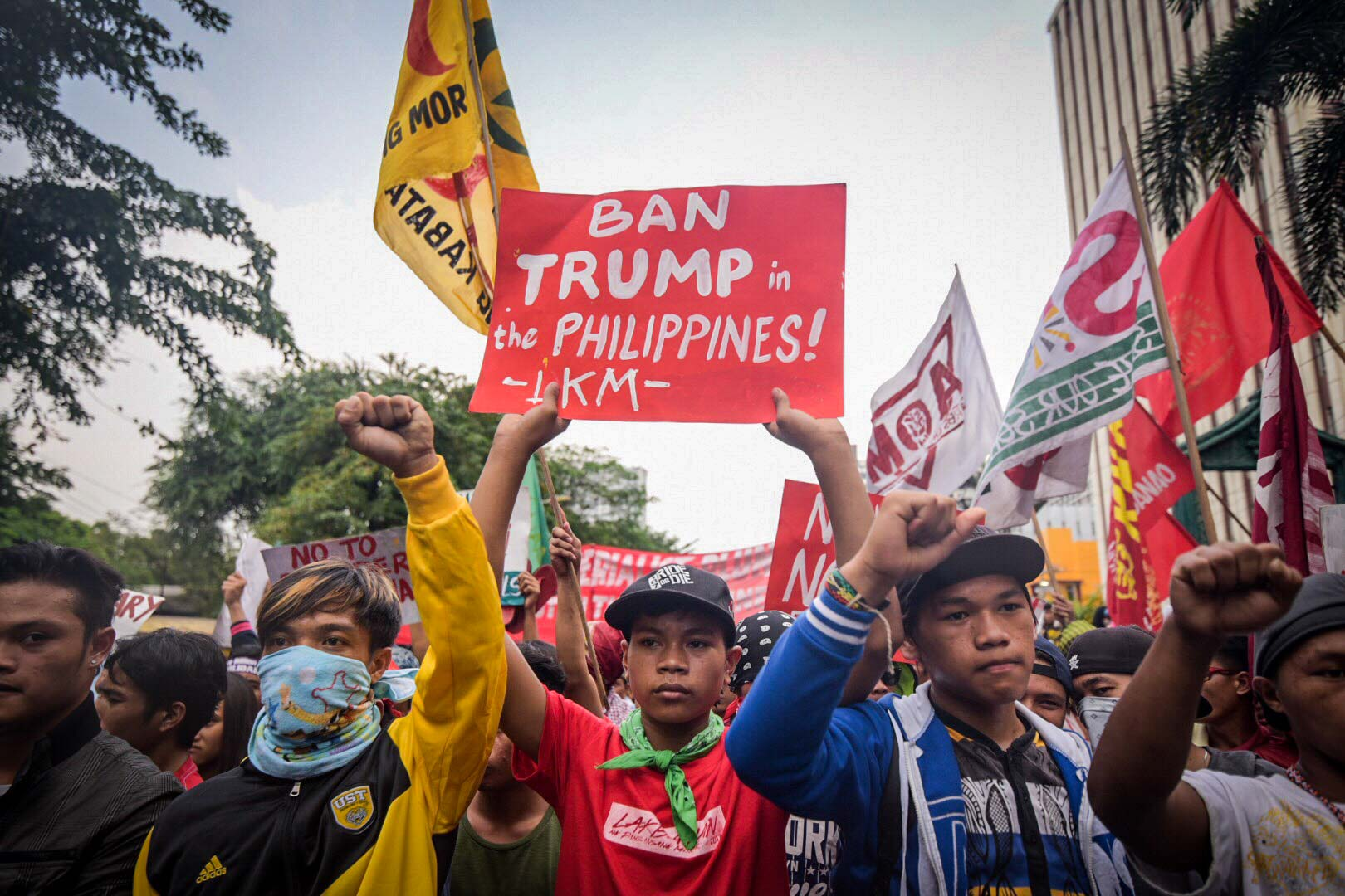 WARS. According to militant groups, US President Donald Trump wants to include Asian nations in the US government's 'war rhetorics.' Photo by Alecs Ongcal/Rappler