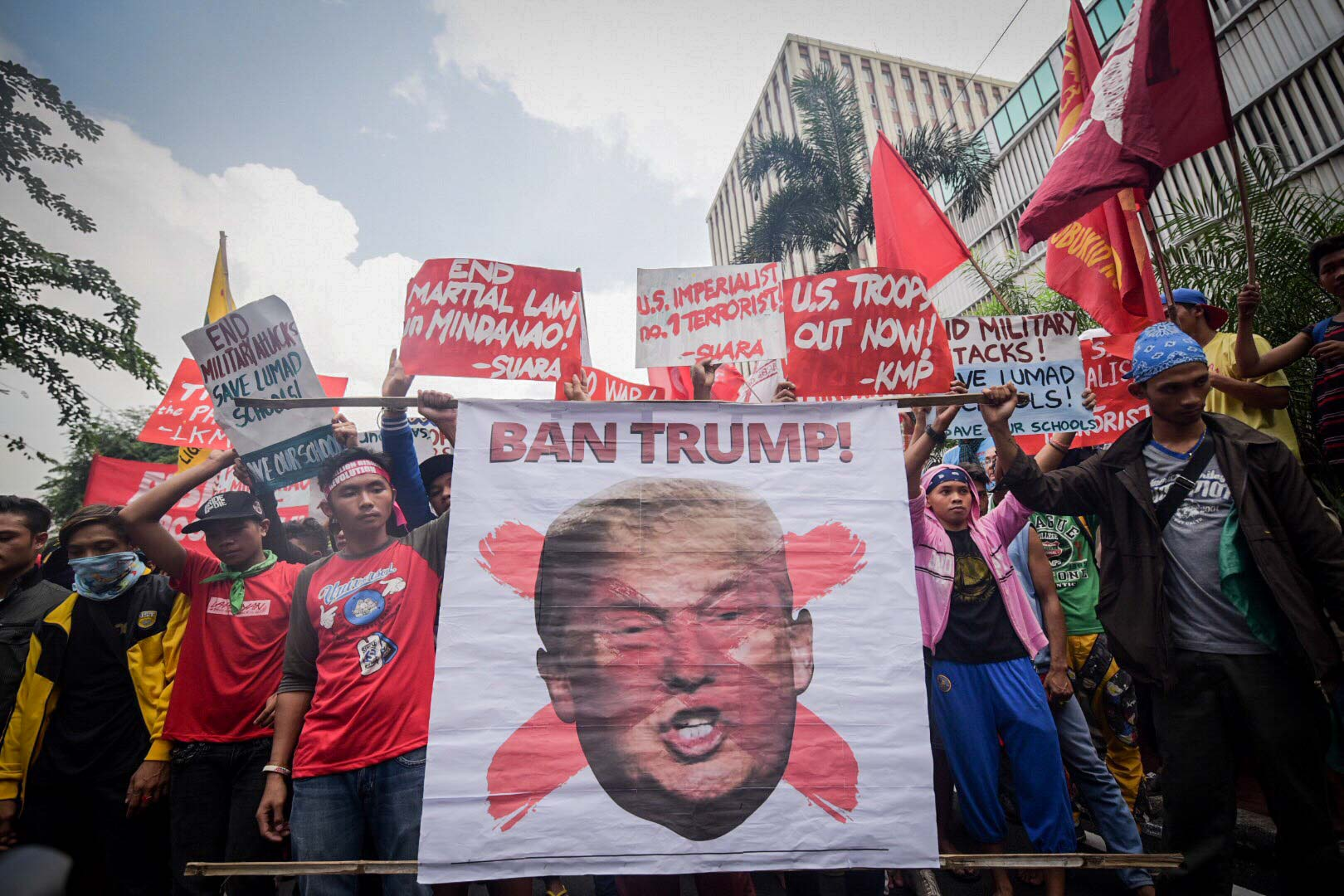 ANTI-TRUMP RALLY. Various groups stage a series of protests against the scheduled visit of US President Donald Trump in the Philippines. Photo by Rappler