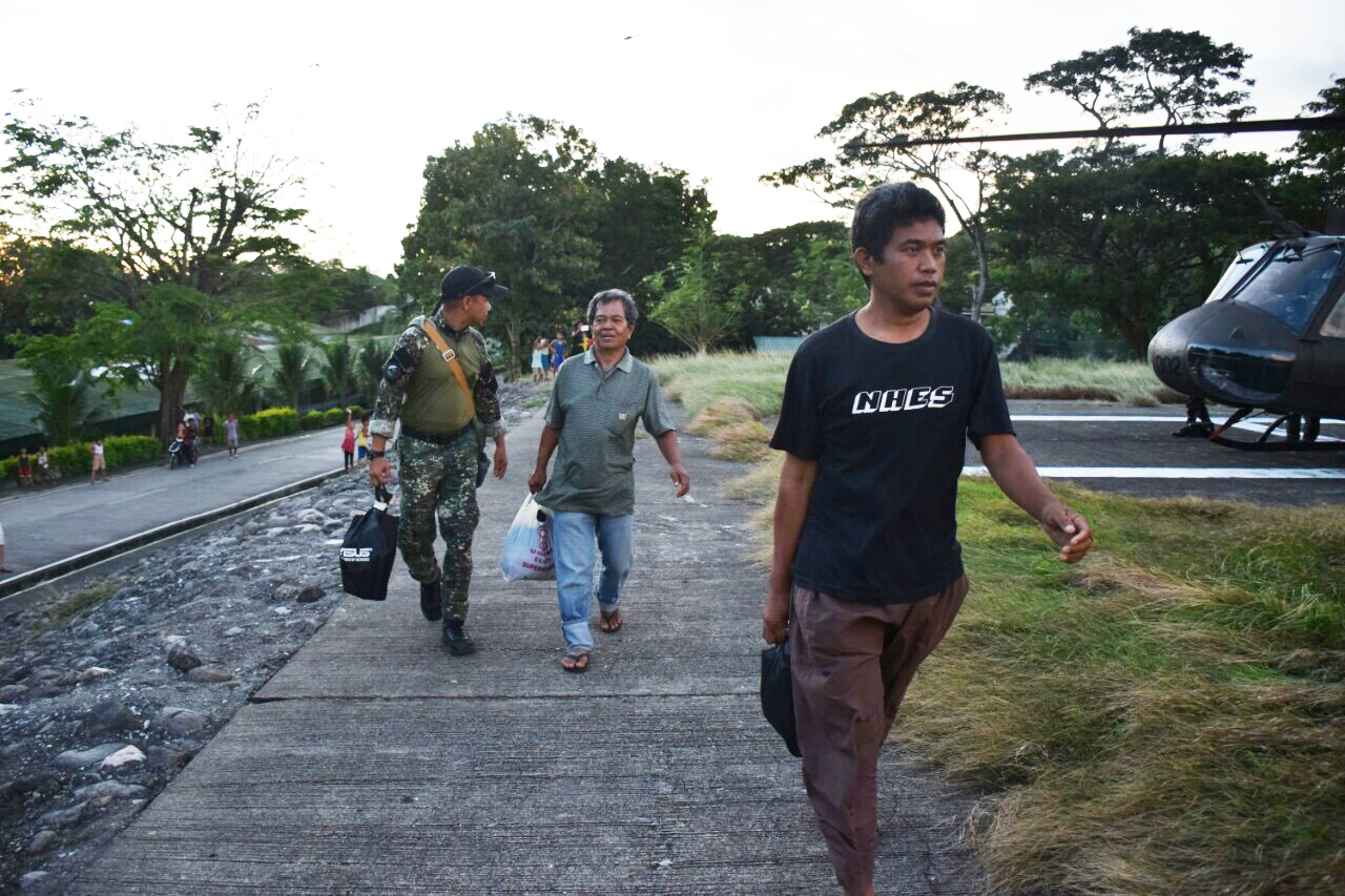 FREE. Two Indonesian hostages are freed by the Abu Sayyaf. Photo from Philippine Military