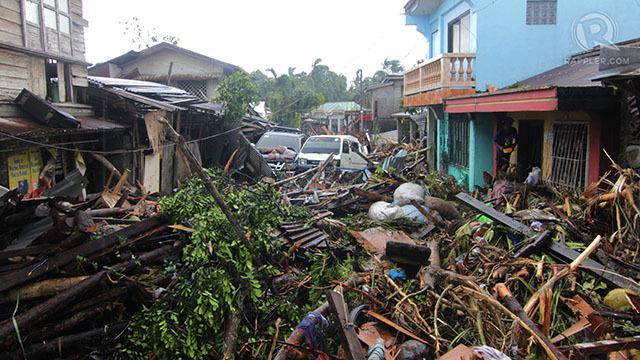 DESTRUCTION. Super Typhoon Yolanda left parts of the Visayas in ruins. Rappler file photo