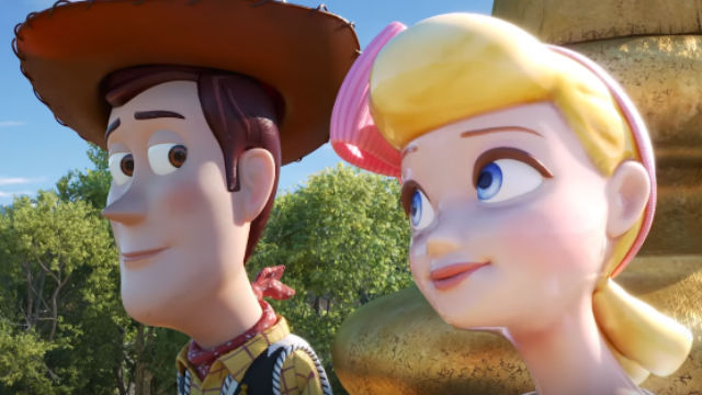 REUNION. Woody and Bo Beep reunite in 'Toy Story 4.' Screenshot from YouTube/Disney Pixar