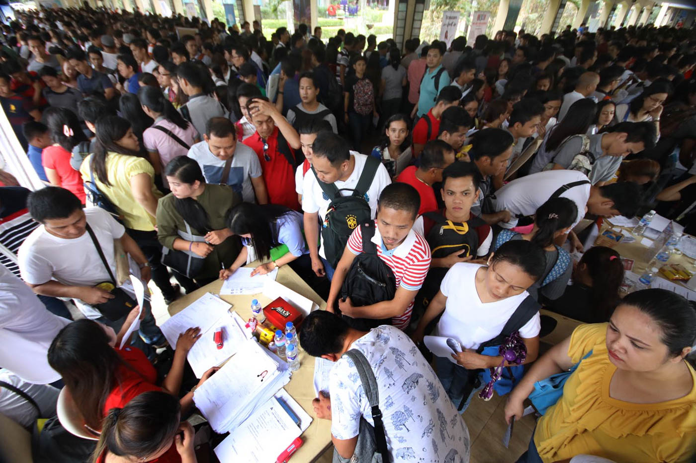 A total of 34,359 applicants registered in 2018 DOLE Job Fair at Quezon City Hall. Photo by Darren langit/Rappler