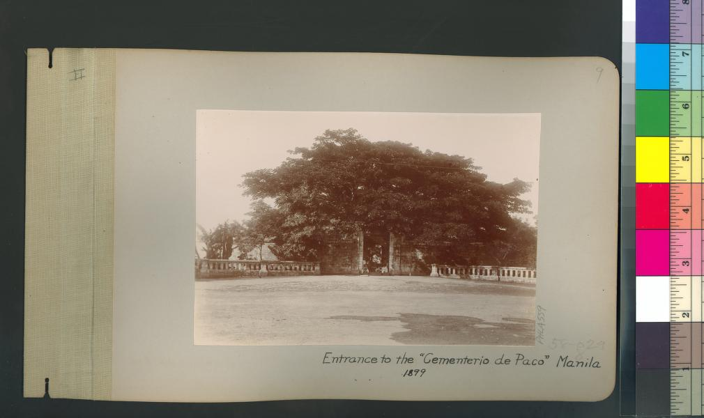 OLD ENTRANCE. Paco Park's entrance in 1899, when it was still used as a cemetery. Photo from the University of Michigan Library Digital Collections.