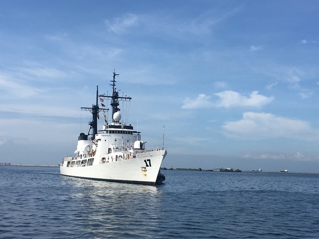 NEWEST WARSHIP. The Philippine Navy acquired BRP Andres Bonifacio from the US Coast Guard. Photo by Rappler