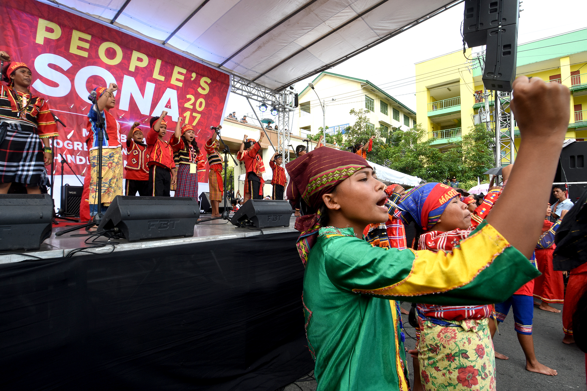 PEOPLE'S SONA. Members of the Lumad from Mindanao join a protest march during President Rodrigo Duterte's 2nd SONA on July 24, 2017. Photo by Anjie de Silva/Rappler