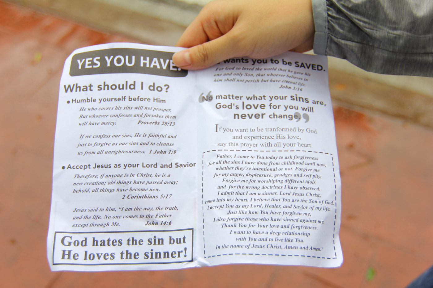 HANDOUTS. Pamphlets handed out by protesters outside the Marikina Sports Center during Metro Manila Pride March 2019. Photo by Sophia Sibal/ Rappler