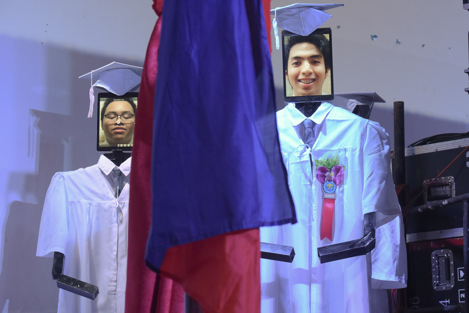 IN PHOTOS: Robots represent graduating high school students in Taguig