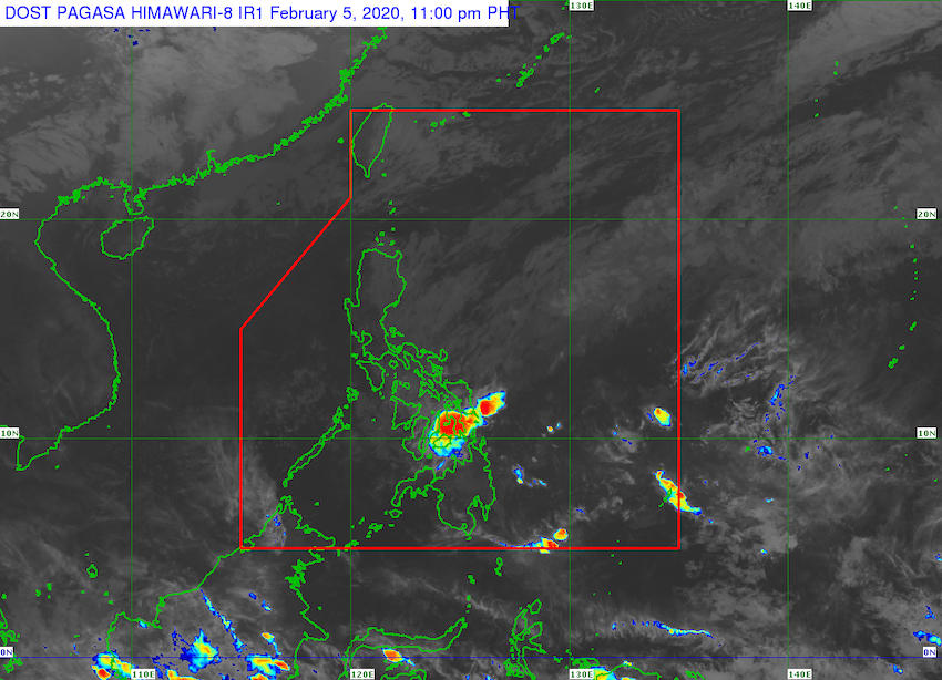 PAGASA monitors low pressure area east of Davao City