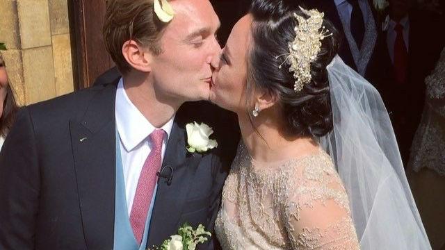 In Photos Georgina Wilson Arthur Burnand Wed In Uk
