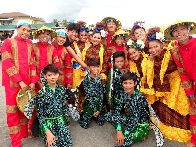 PHOTO OP. The performers from Orani post for a photo.