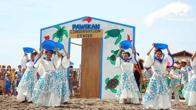 CONSERVATION CENTER. The Morong group of course portrayed the Pawikan Conservation Center in their area.