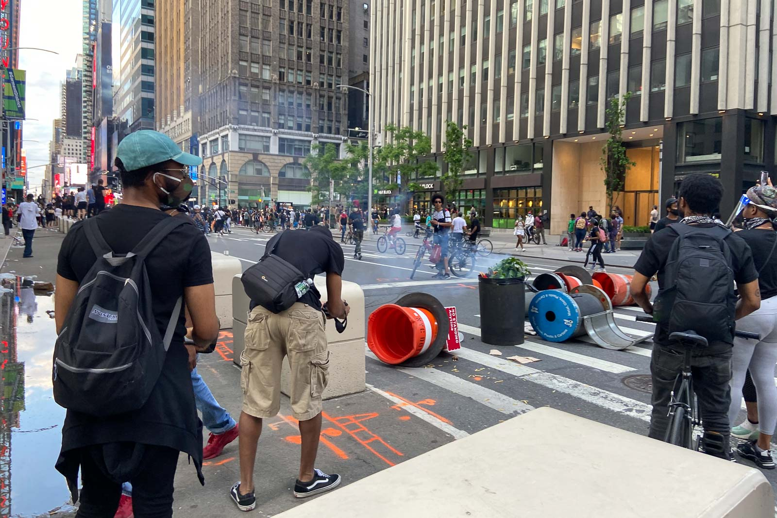 THIS IS NOT AMERICA? New Yorkers' protest  on May 31, 2020. File photo by Ryan Songalia/Rappler