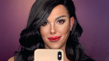 Paolo Ballesteros channels Catriona Gray in his latest makeup transformation. Screenshot from