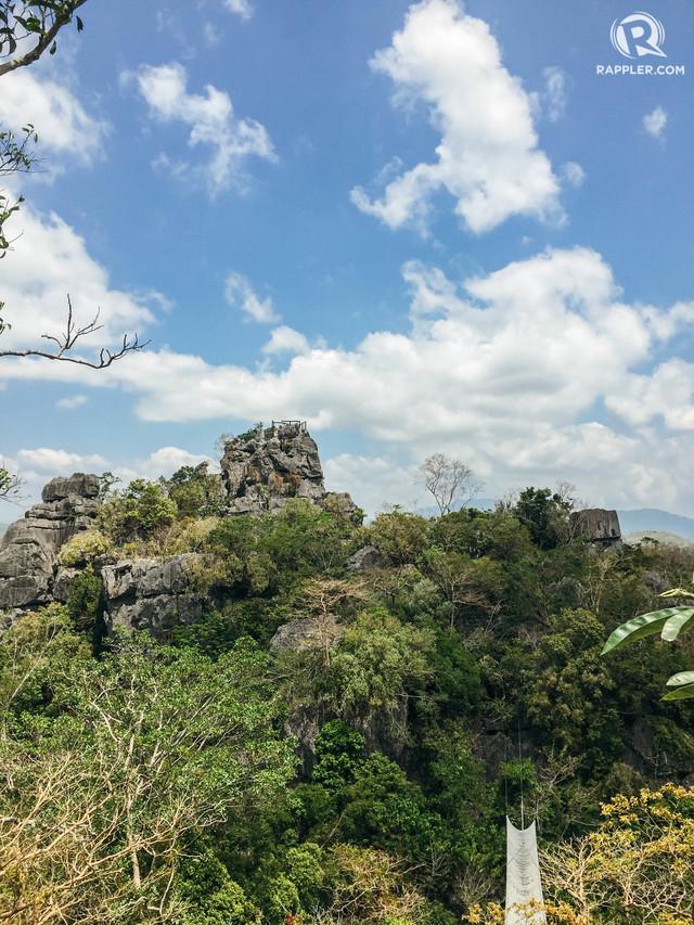 TATAY. Tatay is the highest peak in Masungi Georeserve. Photo by Nicole Reyes/Rappler