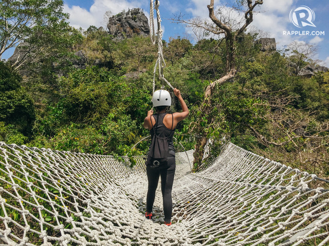DUYAN. A giant rope hammock, Duyan is one of Masungi's most photographed rope courses. Photo by Nicole Reyes/Rappler