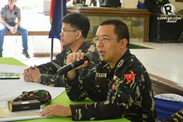 CALL FOR COOPERATION. Colonel Cirilo Tomas Donato says terrorism will persist unless everyone works together. Photo by Gualberto Laput/Rappler