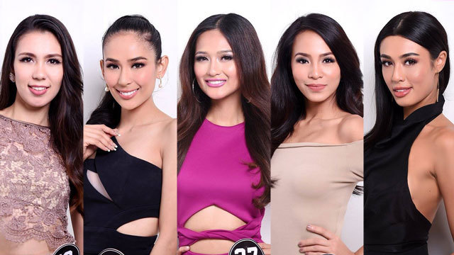 MISS WORLD PHILIPPINES ALUMNI. Sandra Lemonon (R) leads the ladies crossing from the Miss World Philippines to try their luck in Bb Pilipinas