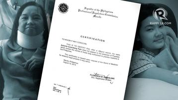 Arroyo's alternative medicine doctor unlicensed