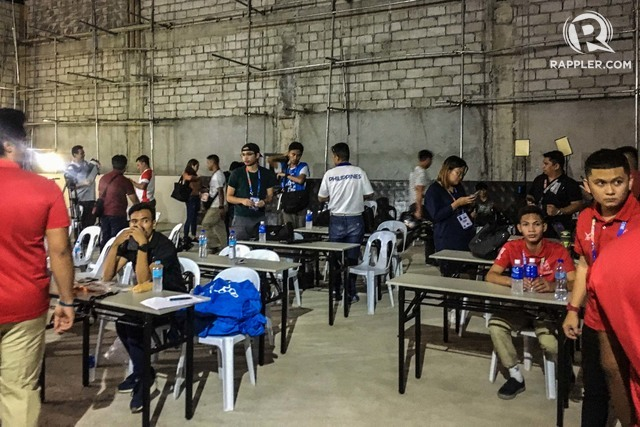 MEDIA CENTER. Scaffolding and hollow blocks at the makeshift SEA Games 2019 media center at the Rizal Memorial Stadium on November 25, 2019. Photo by Beatrice Go/Rappler
