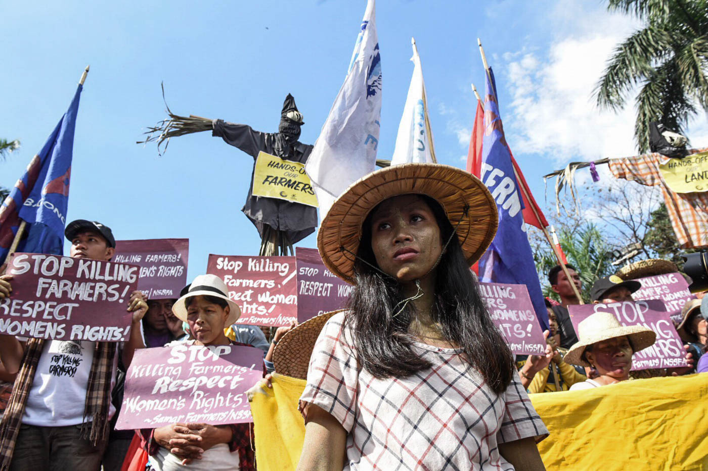 Various groups gather at Liwasang Bonifacio in Manila to commemorate International Women's Day. Photo by Alecs Ongcal/Rappler