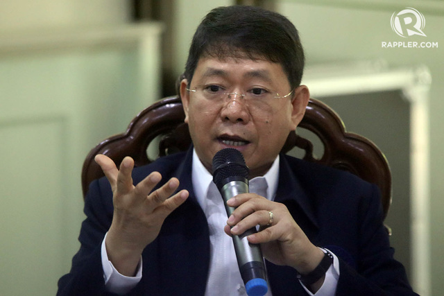EX-AFP CHIEF. In this file photo, DILG OIC Eduardo Año speaks during a press conference at the PDEA Headquarters in Quezon City. File photo by Darren Langit/Rappler