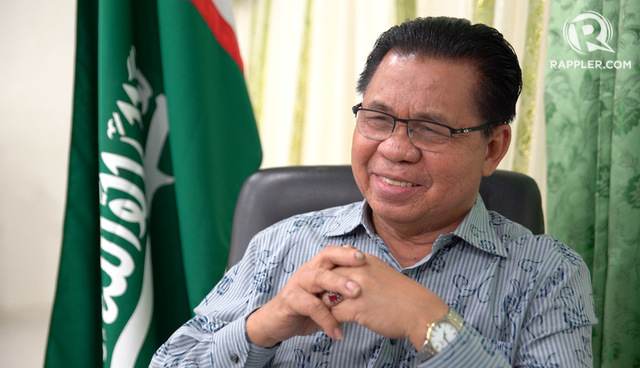 NEW ROLE. MILF chairman Murad Ebrahim is named BARMM interim Chief Minister. Rappler file photo