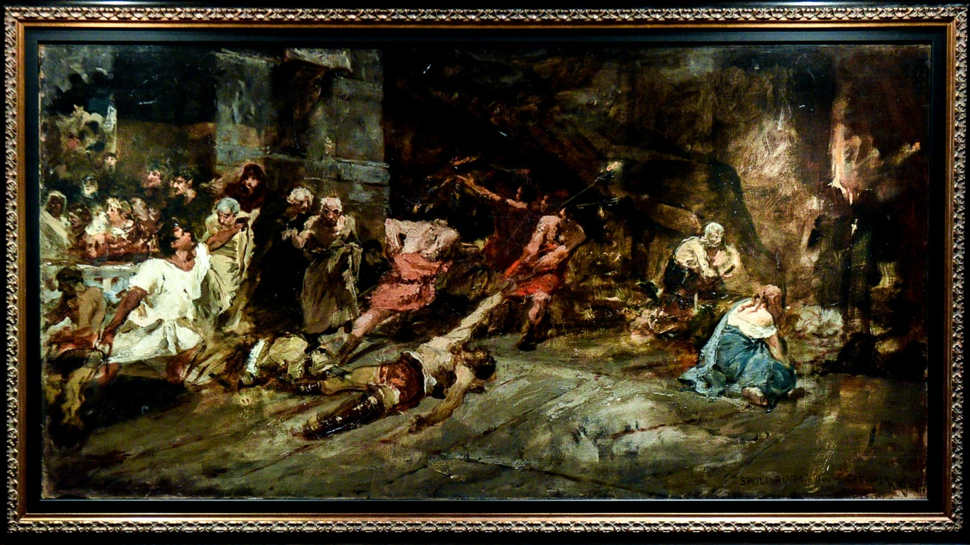 Juan Luna's boceto of the Spoliarium surfaces. But is it real?