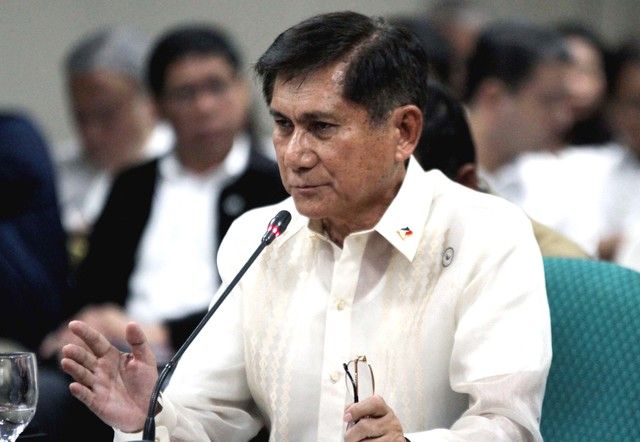CONFIRMED. The Commission on Appointments on Wednesday, October 4, confirms the ad interim appointment of Environment Secretary Roy Cimatu. PRIB Photo by Cesar Tomambo