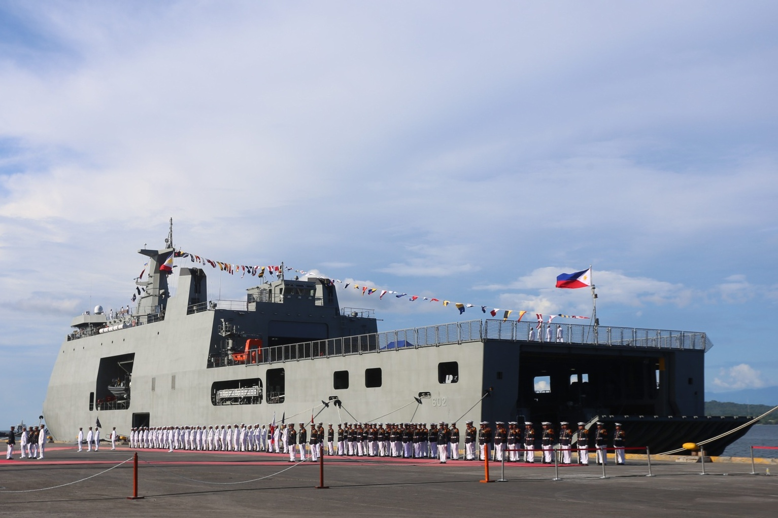 BRP DAVAO DEL SUR. One of the biggest ships of the Philippine Navy, the BRP Davao del Sur is commissioned on May 31, 2017. Photo by Manman Dejeto/Rappler