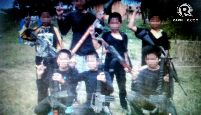 CHILD SOLDIERS. The Mautes train children for battle. Rappler sourced photo