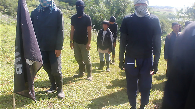 TRAINING. Child soldiers are taught to kill early on. Rappler sourced photo