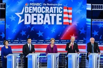 Top hopefuls Buttigieg, Sanders under fire in Democratic debate, From GoogleImages