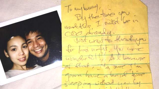 Claudine Barretto Posts Letter From Ex Boyfriend Rico Yan