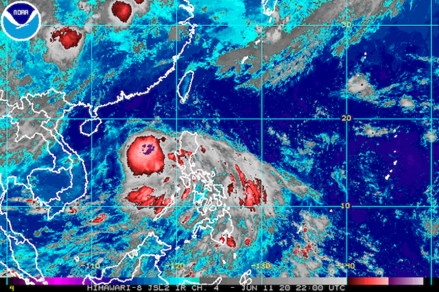Tropical Depression Butchoy moves over Zambales