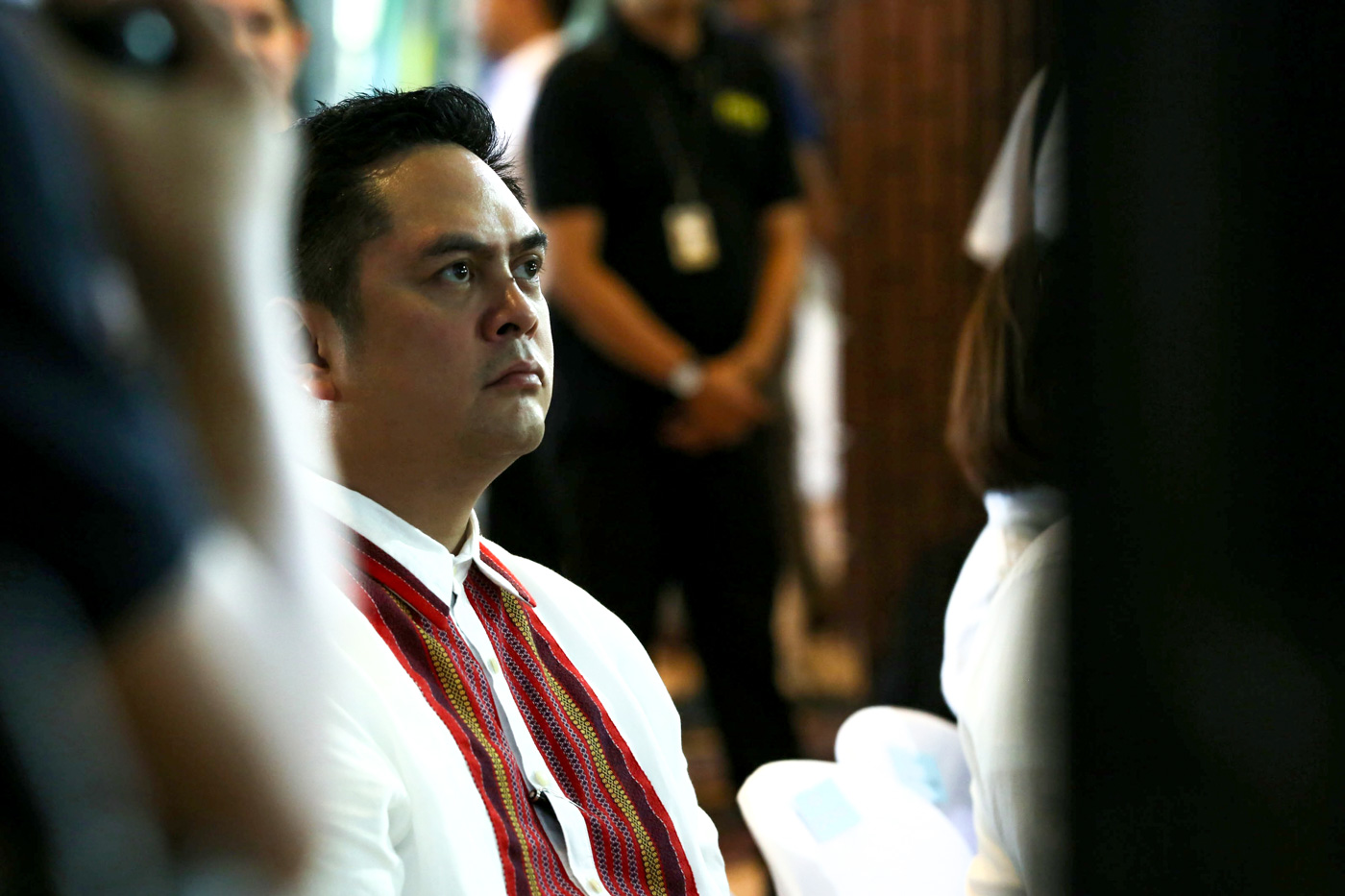 ACCESS AND RESPONSIBILITY. PCOO chief Martin Andanar attends a forum where bloggers voice their opposition to restrictions in PCOO's draft social media policy. Malacañang file photo
