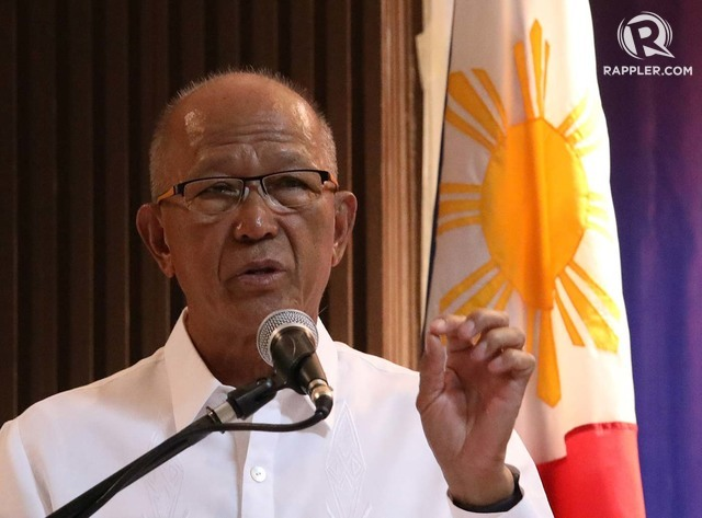 MUTUAL DEFENSE TREATY. Defense Secretary Delfin Lorenzana is pushing for a review of the 1951 Mutual Defense Treaty between the Philippines and the United States. File photo by Darren Langit/Rappler