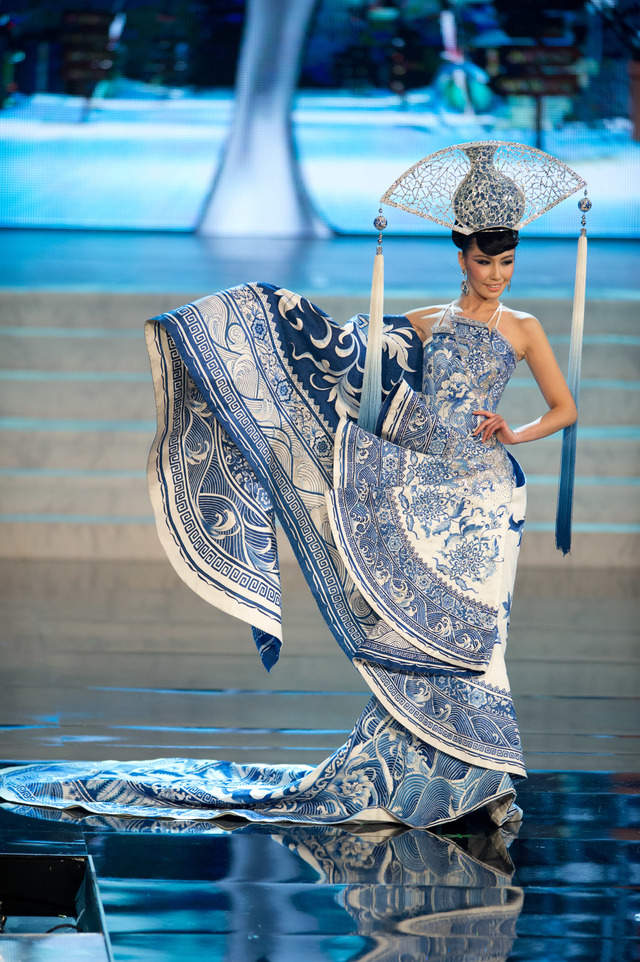 Miss China 2012, Ji Dan Xu, performs onstage at the 2012 Miss Universe National Costume Show on Friday, December 14th at PH Live in Las Vegas, Nevada. Photo from HO/Miss Universe Organization