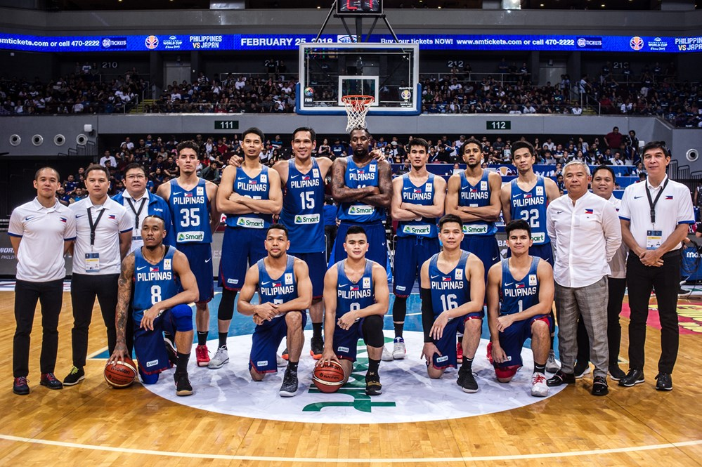 b65db038cd9d Gilas Pilipinas before the FIBA World Cup Asian Qualifer game versus Japan  February