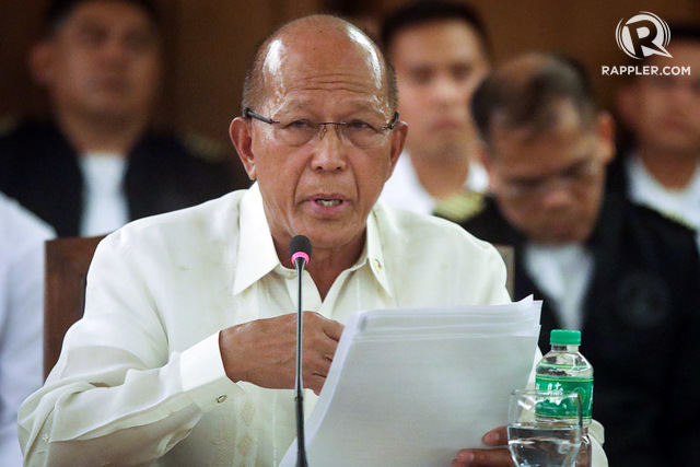 DEFENSE SECRETARY. Delfin Lorenzana speaks to House committee on national defense and security. File photo by Darren Langit/Rappler
