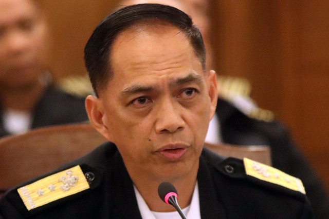 NOT NORMAL. Philippine Navy chief Robert Empedrad says the sinking of a Philippine boat in the West Philippine Sea 'is not a normal maritime accident.' Photo by Darren Langit/Rappler