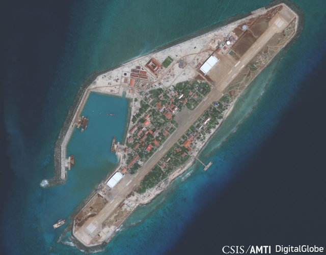 VIETNAM UPGRADES. Vietnam is quietly upgrading its facilities in the Spratly Islands, says the Washington-based Asia Maritime Transparency Initiative of the Center for Strategic and International Studies. Photo courtesy of AMTI/CSIS/DigitalGlobe